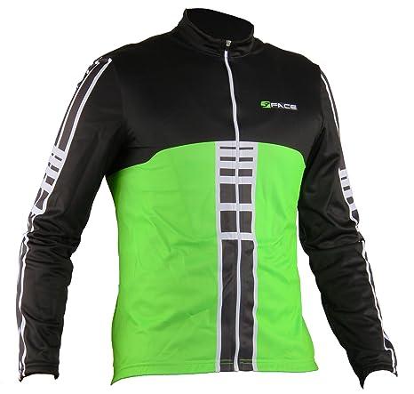 0bdbb8ecc9d28e Maglia Manica Lunga Ciclismo Termica Traspirante Abbigliamento Bici MTB  Verde Fluo (M)