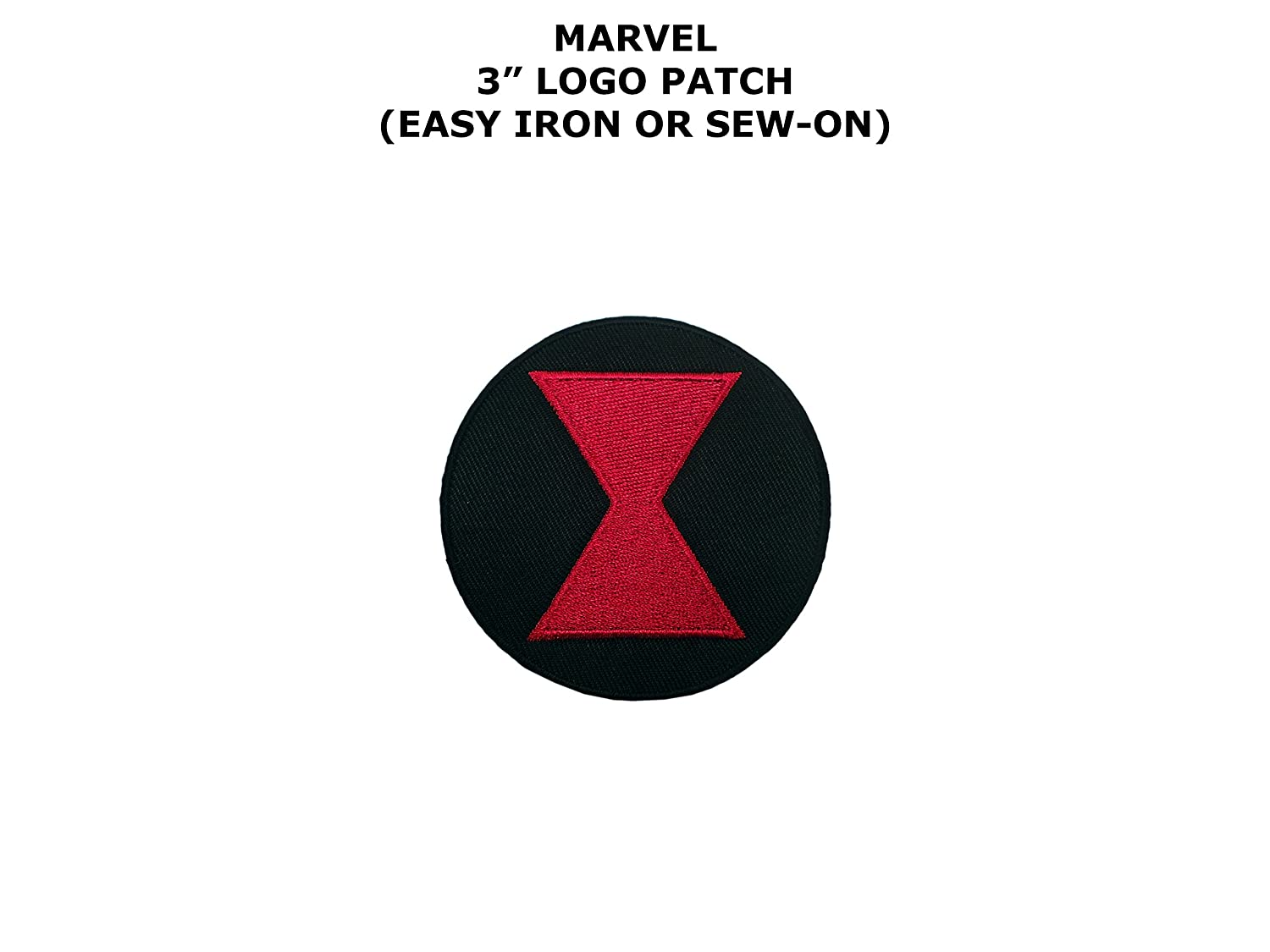 Marvel Comics Black Widow Logo Iron/Sew-On Embroidered Patch