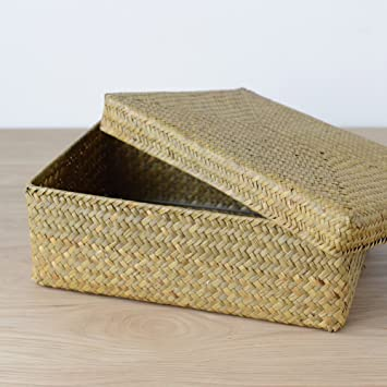 Sahg Hand Woven Seagrass Box for Storage With Lids 4.5u0026quot; H x 13.5u0026quot; & Amazon.com : Sahg Hand Woven Seagrass Box for Storage With Lids ... Aboutintivar.Com