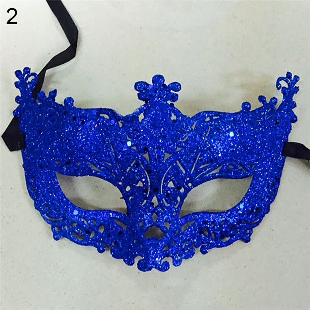 Brussels08 Women Fashion Masquerade Mask Shiny Plastic Cosplay Costume Eye Mask Half Face Mask for Carnival Fancy Mardi Christmas Party Ball Prom Halloween Black