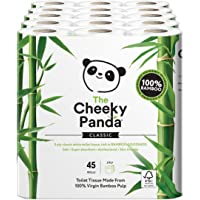 The Cheeky Panda Ultra Sustainable Hypoallergenic 100% Bamboo Toilet Roll Pack of 45