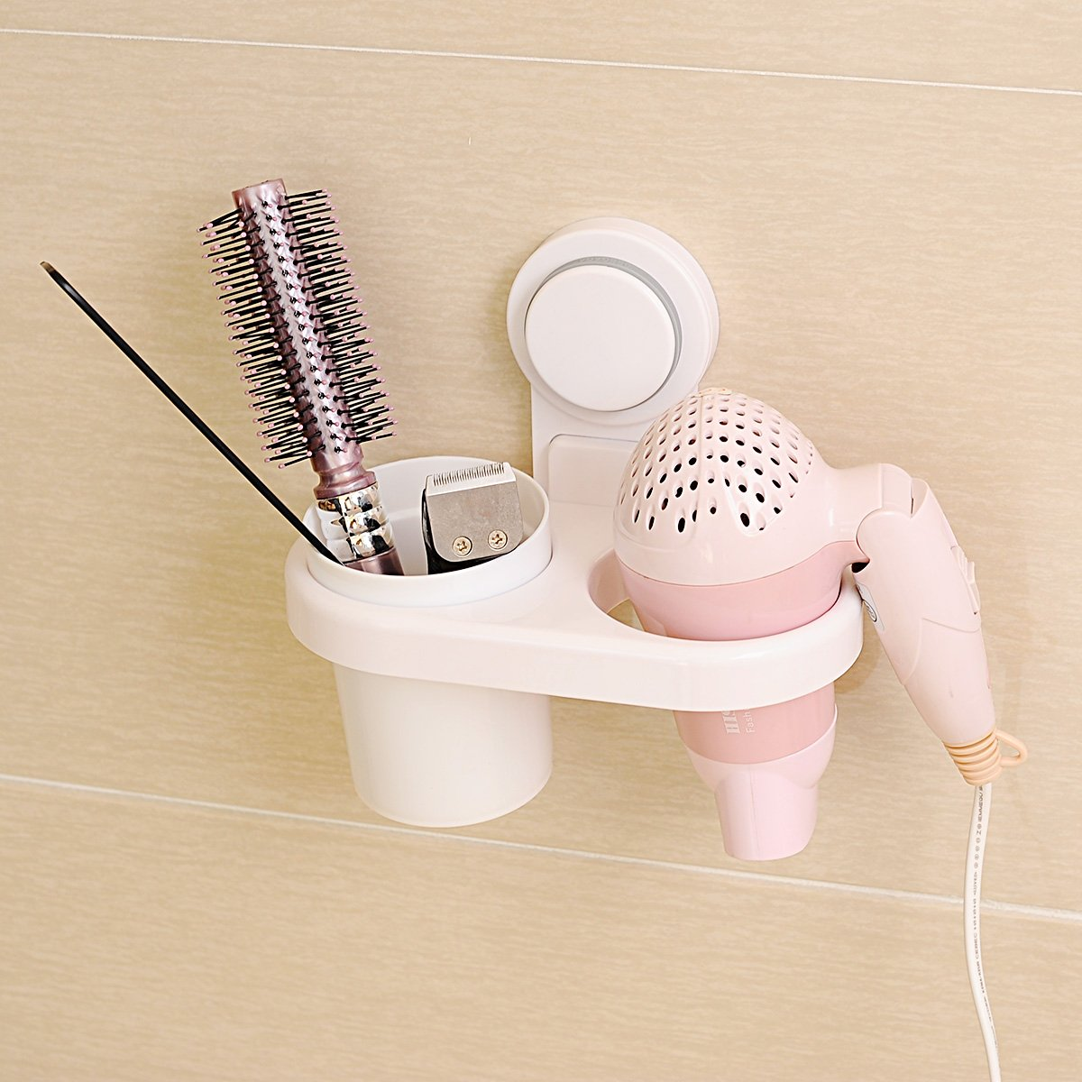 OLQMY-Strong Suction Cup, Hair Dryer Frame, Suction Wall, Air Drum Rack, Wall Hanging Cup, Hair Dryer Frame