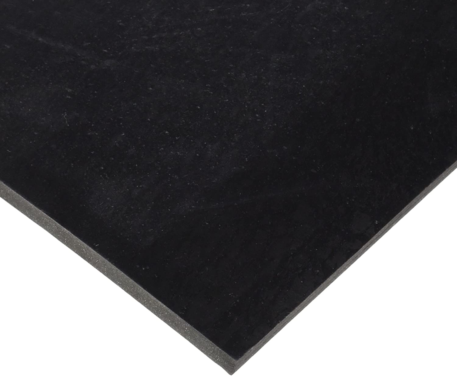 SBR Styrene Butadiene Rubber Sheet 60 Shore A Black Smooth Finish No Backing 0.25 Thickness 6 Width 6 Length