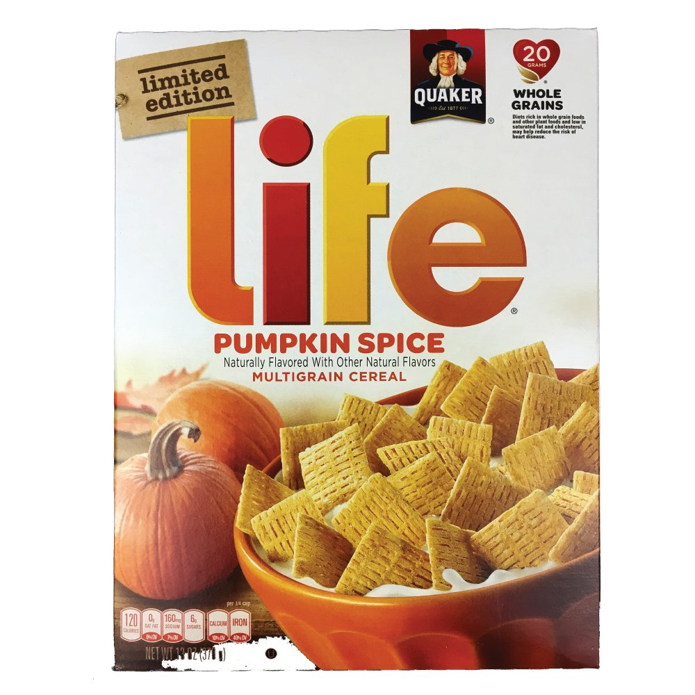 Quaker Pumpkin Spice Life Cereal Limited Edition, 13 ounce