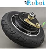 """Electric Scooter Hub Wheel Motor 24V 350W DC Brushless Toothless 8"""" Wheel Motor E-Scooter Wheel Bicycle Motor Wheel with Solid Tyre with Break Drum"""