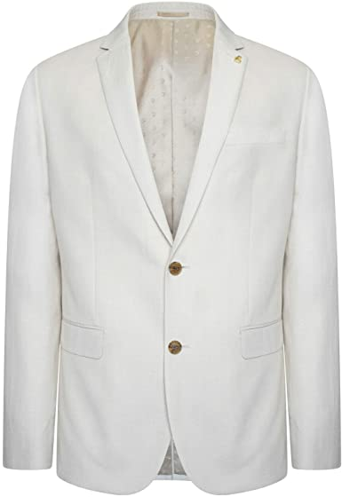 Farah Linen Viscose Blend Waistcoat in Cream