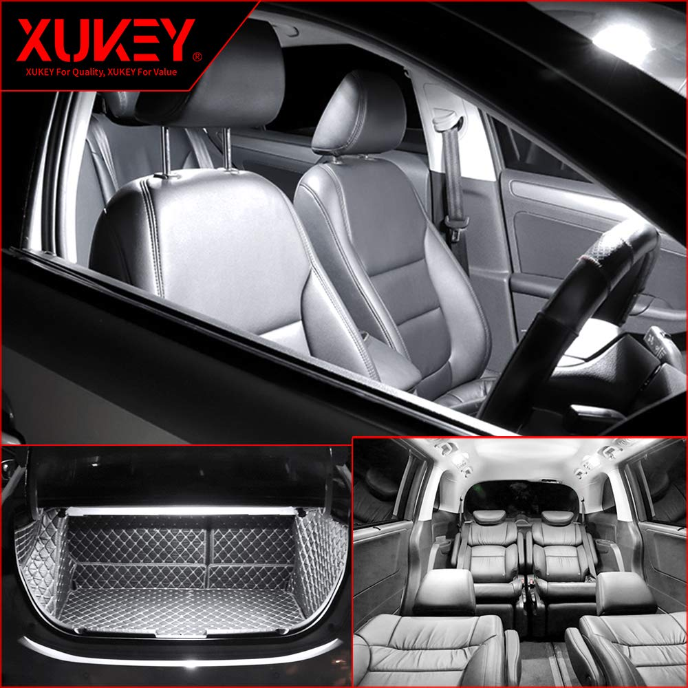 Xukey 16pcs Car Interior LED Lights Kit For A3 2004 2005 2006 2007 2008 2009 2010 2011 2012 Dome Trunk License Plate Bulbs 6000K