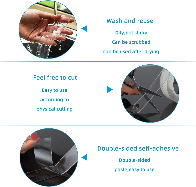 Nano Tape Abl/ösbar Klebestreifen Doppelseitig Mehrzweck-klebeband Spurloses Waschbares Doppelseitiges Klebeband Transparent Yisun Nano Klebeband Doppelseitig Stark