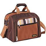 Apollowalker Picnic Bag for 4 Person with Cooler Compartment Includes Tableware, Coffee, X-Large