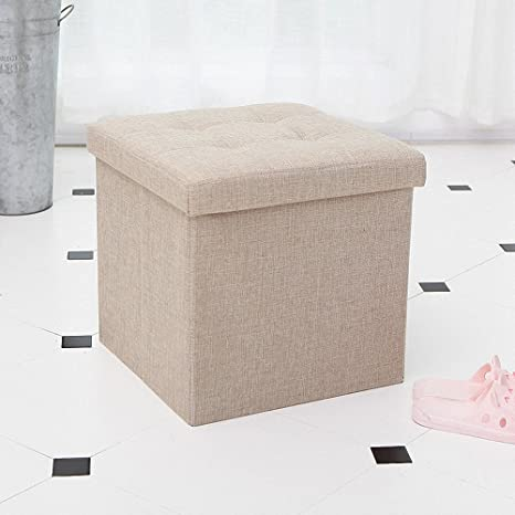 Awesome Ottoman With Storage,Storage Ottoman Linen Foldable Stool,Storage Cube  Basket Bins Organizer Containers