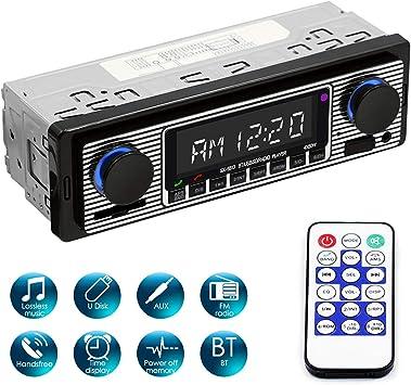 Yolispa chiamate in vivavoce con telecomando lettore MP3 digitale Autoradio Bluetooth con porta USB//SD//AUX 4 x 60 W autoradio FM