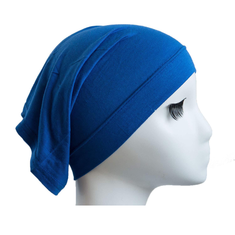 Fashion Women Muslim Cotton Headscarf Hijab Bib Chemo Housework Tube Cap (Grey)