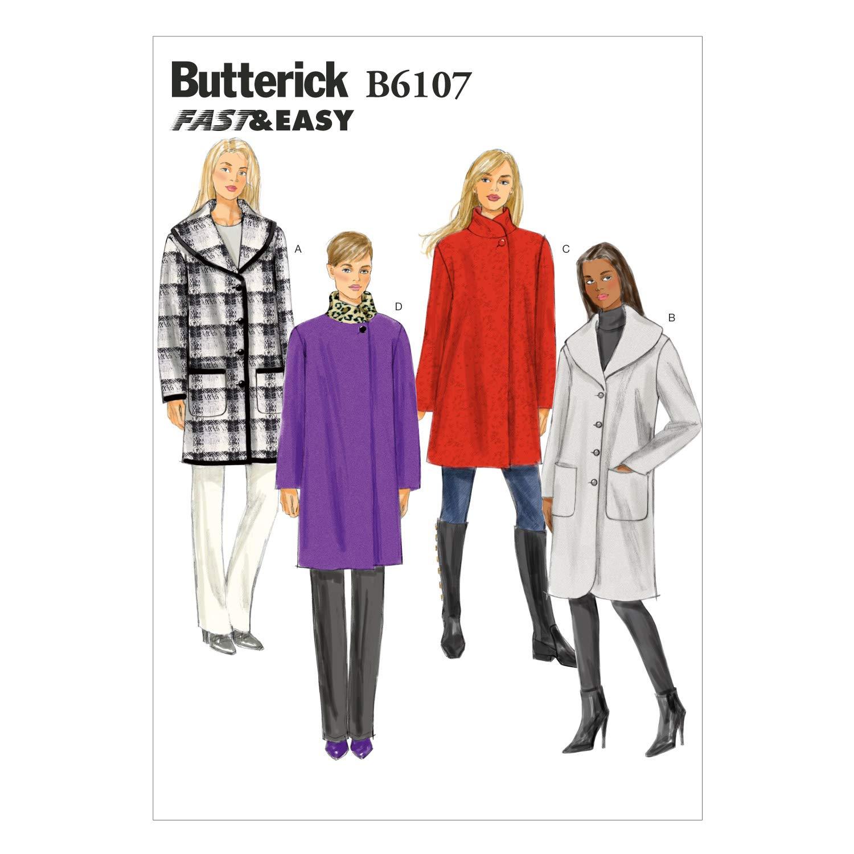 Butterick modelli 6107 ed extra-piccole dimensioni - 4 6/8-10/14 I piccoli modelli di dimensioni da cucire e le istruzioni per riscaldare a 12 The McCall Pattern Company B61070Y0