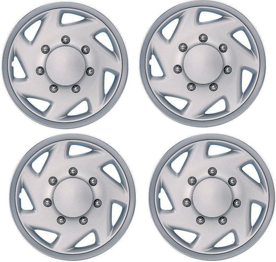 "4 New E150 E250 Econoline Van 16/"" Full Wheel Covers Hub Caps Rim Simulators Hubs"
