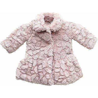 31148433e Calvin Klein Baby Girls  Faux Fur Peplum Coat 6-9 Months ...