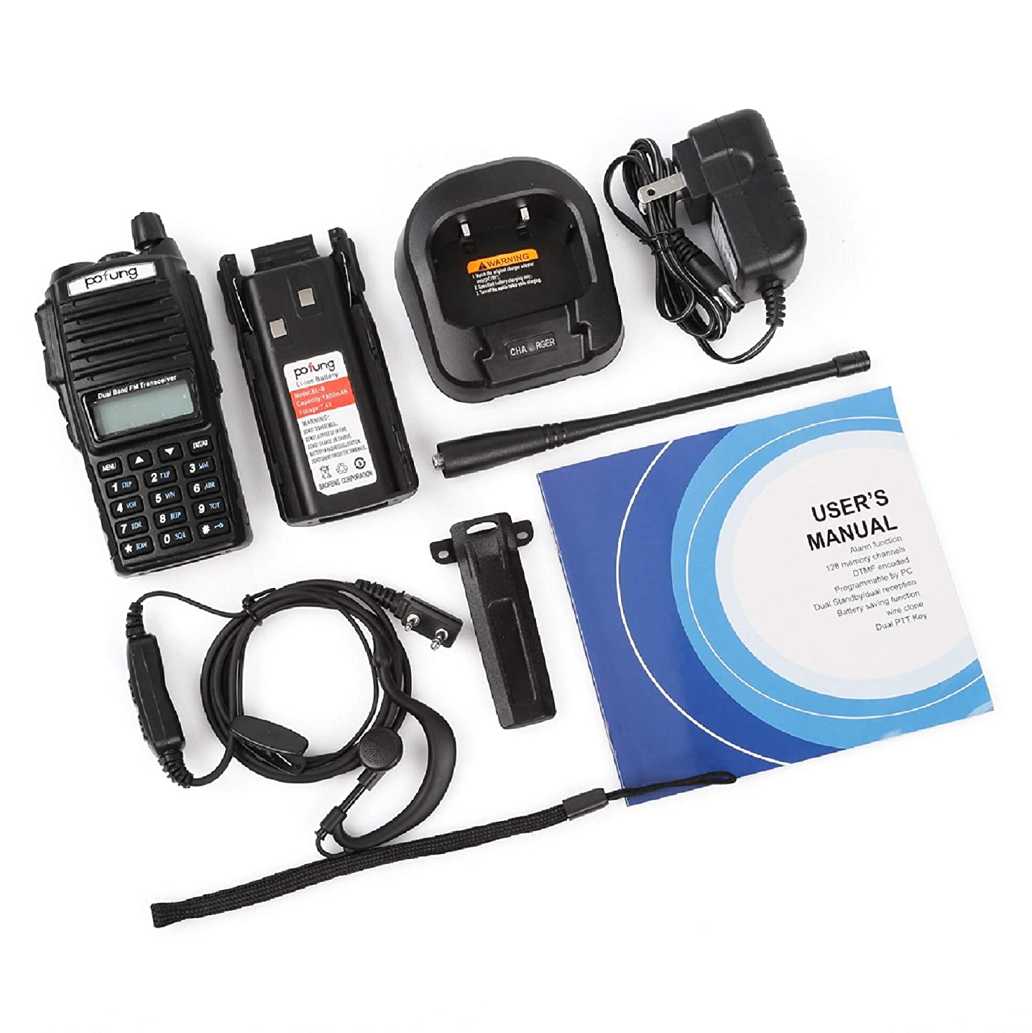 Pofung UV-82 VHF UHF FM Transceiver Dual Band Two Way Radio