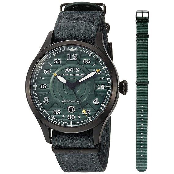 Avi de 8 reloj automático Hawker Hurricane AV de 4046 - 04: Amazon.es: Relojes