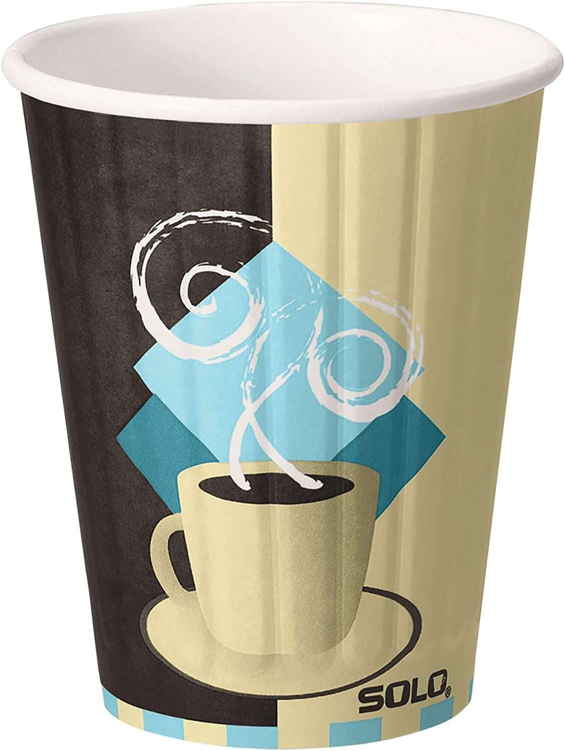 Solo IC12-J7534 12 oz Tuscan Cafe Duo Shield insulated Paper Hot Cup (Case of 600)