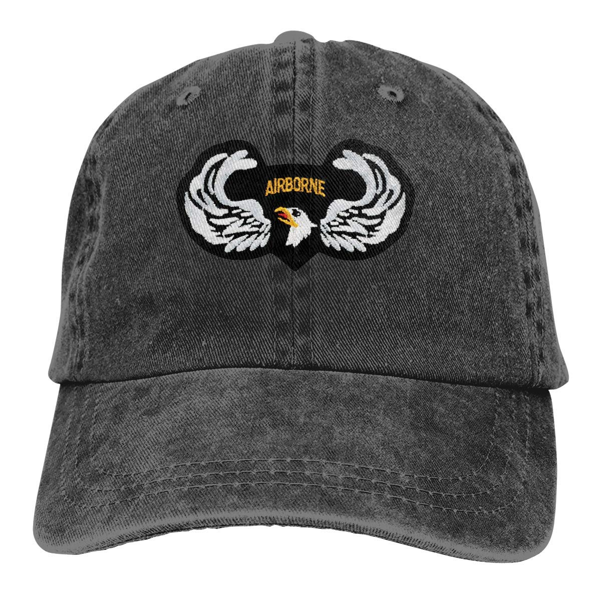 shyly KERLANDER 101ST Airborne Wings Patch Embroidery Adjustable Washed Twill Baseball Cap Dad Hat