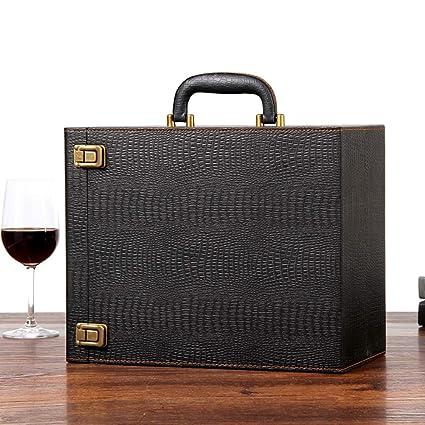 Juego De Cajas De Vino / 6 Botellas Caja De Presentación De Vinos/Portador De Vinos para ...