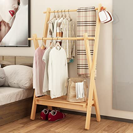 Beau Waterproof Wood Coat Racks,garment Rack Multipurpose Bamboo Coat And Shoe  Rack Hat Bag Rack
