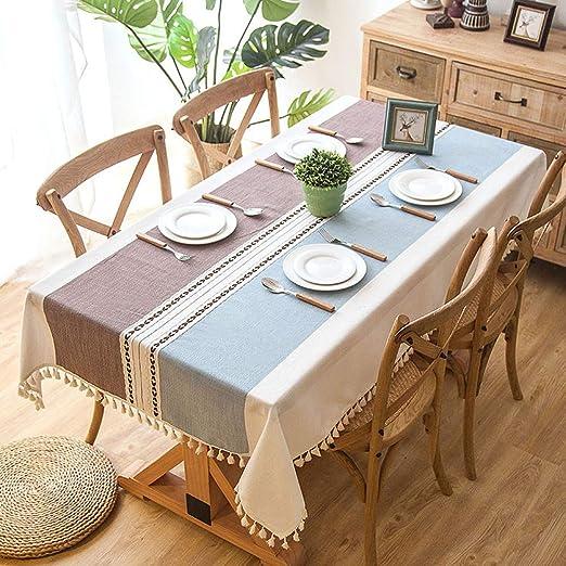 DXSX Mantel para Mesa de Cocina o Salón, Lavable, Borde de Encaje ...