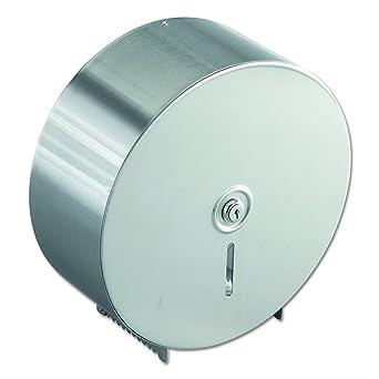 Bobrick 2890 Jumbo dispensador de papel higiénico, acero inoxidable, 10.625 W x 10.625h