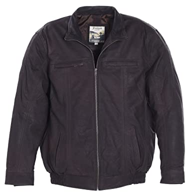 709ec0de165 Ashwood Mens Gents Super Soft Full Leather Jacket with Center Zip and Soft  Lining  Amazon.co.uk  Clothing