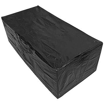 Woodside - Bâche pour table de jardin - rectangulaire/étanche - noir ...