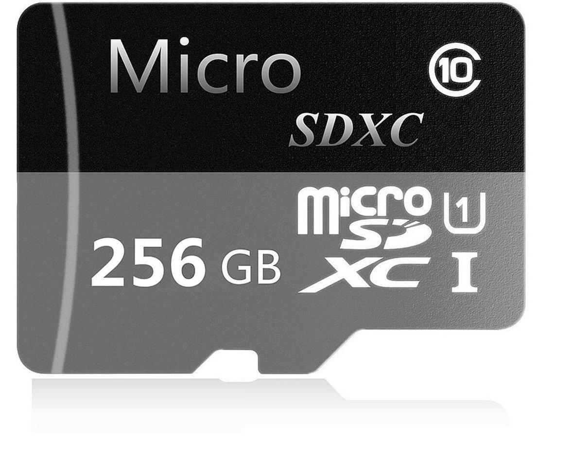256GB Micro SD SDXC Card High Speed Class 10 Micro SD Memory Card with Adapter