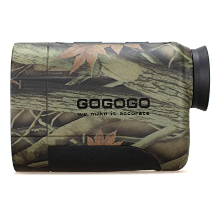 Gogogo 6X Hunting Laser Rangefinder Bow Range Finder Camo Distance Measuring Outdoor Wild 650/1200Y with Slop High-Precision Continuous Scan