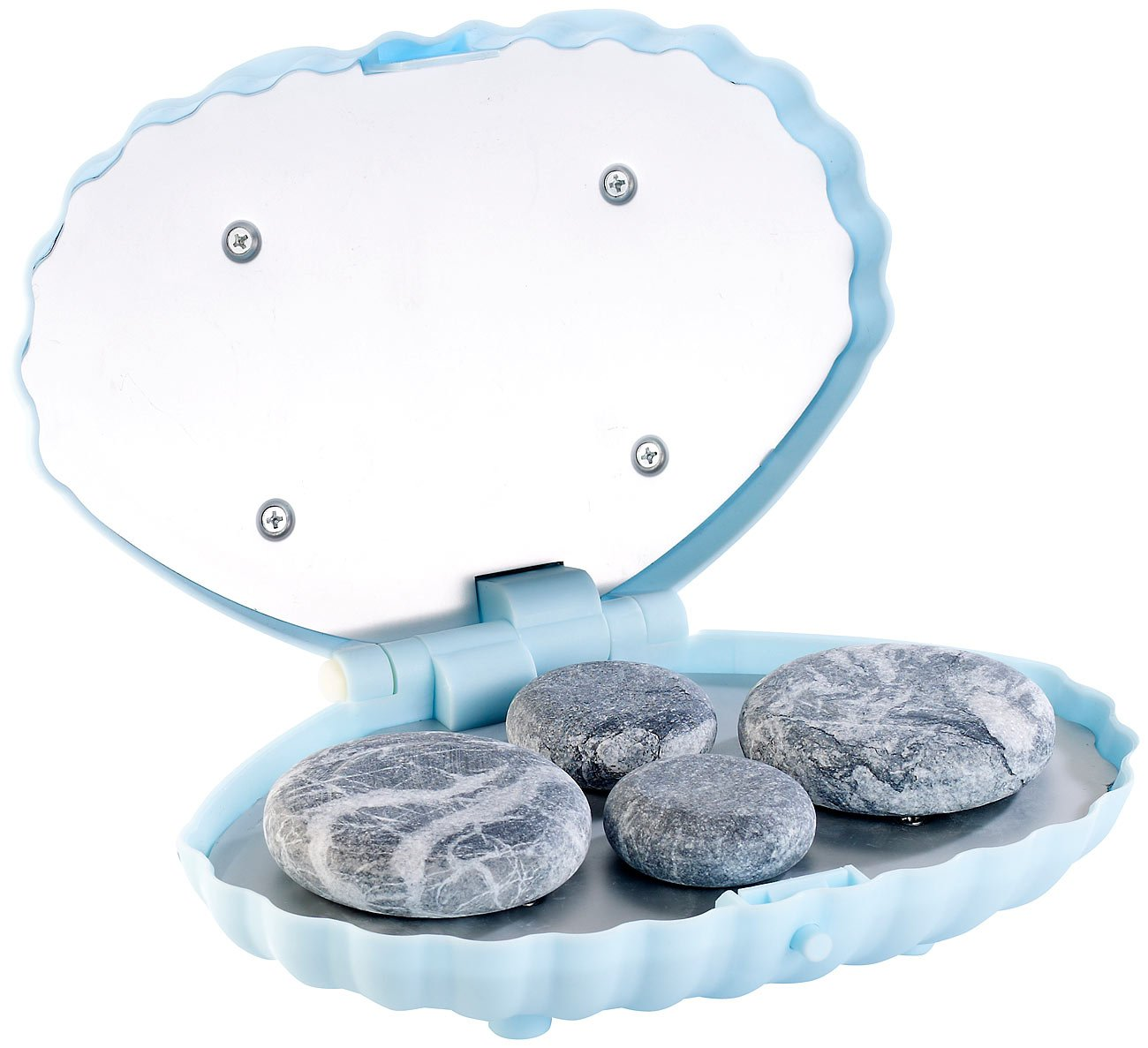 newgen medicals Massagesteine: Hot-Stone-Massage-Set mit 4 Steinen ...
