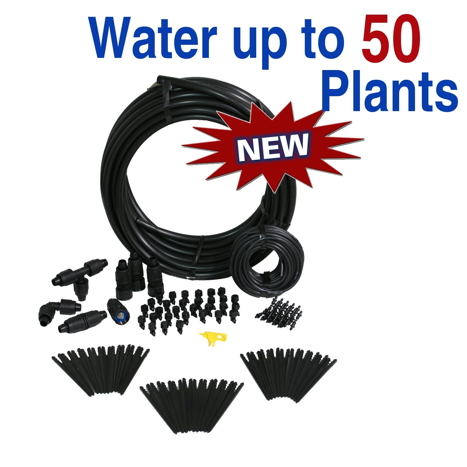 Premium Gravity Feed Drip Irrigation Kit for Dirty Water