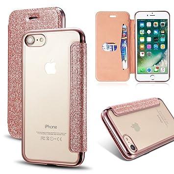 iphone 8 plus rose gold glitter case