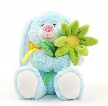 Linzy Daisy conejo de peluche con flores