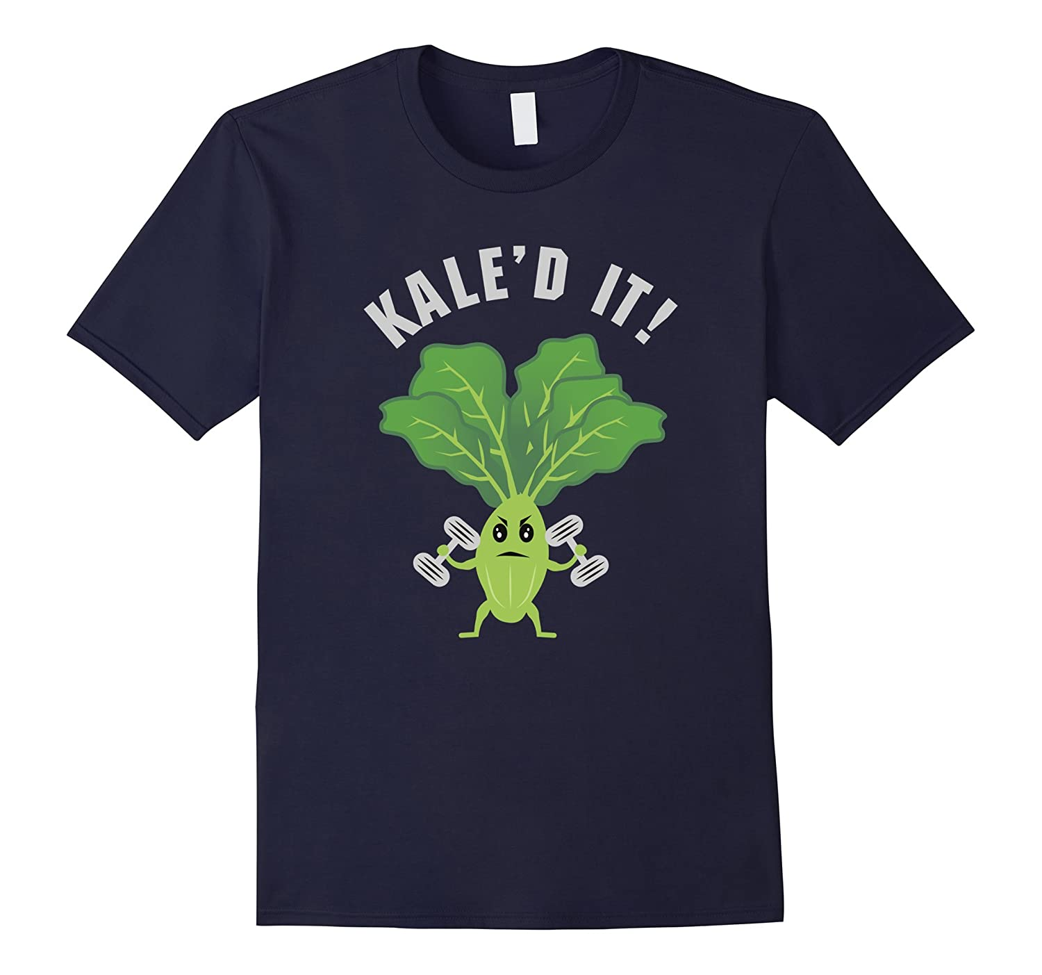 Kaled It Fitness Kale Workout Funny Graphic T-Shirt-CD
