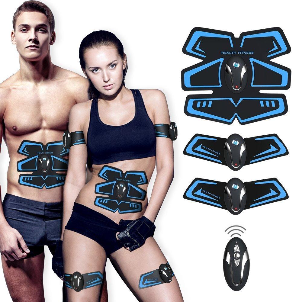 EMS con USB Ricaricabile Elettrostimolatore Muscolare Professionale per Braccio//Gambe//Glutei ZHENROG Elettrostimolatore per Addominali 6 modalit/à e 10 Livelli di Intensit/à