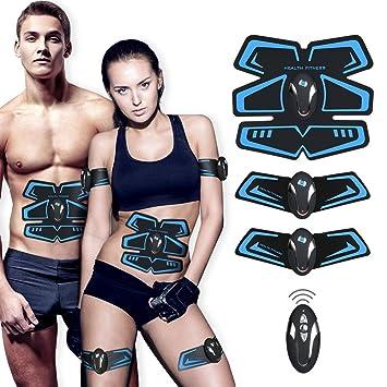 Dernière version 2018 Ailida Appareil Abdominal,Smart Ceinture Abdominal  Massage Musculaire Bras Multiple Endroit Fitness ou Cuisses ... 4b3cc3c6eb4