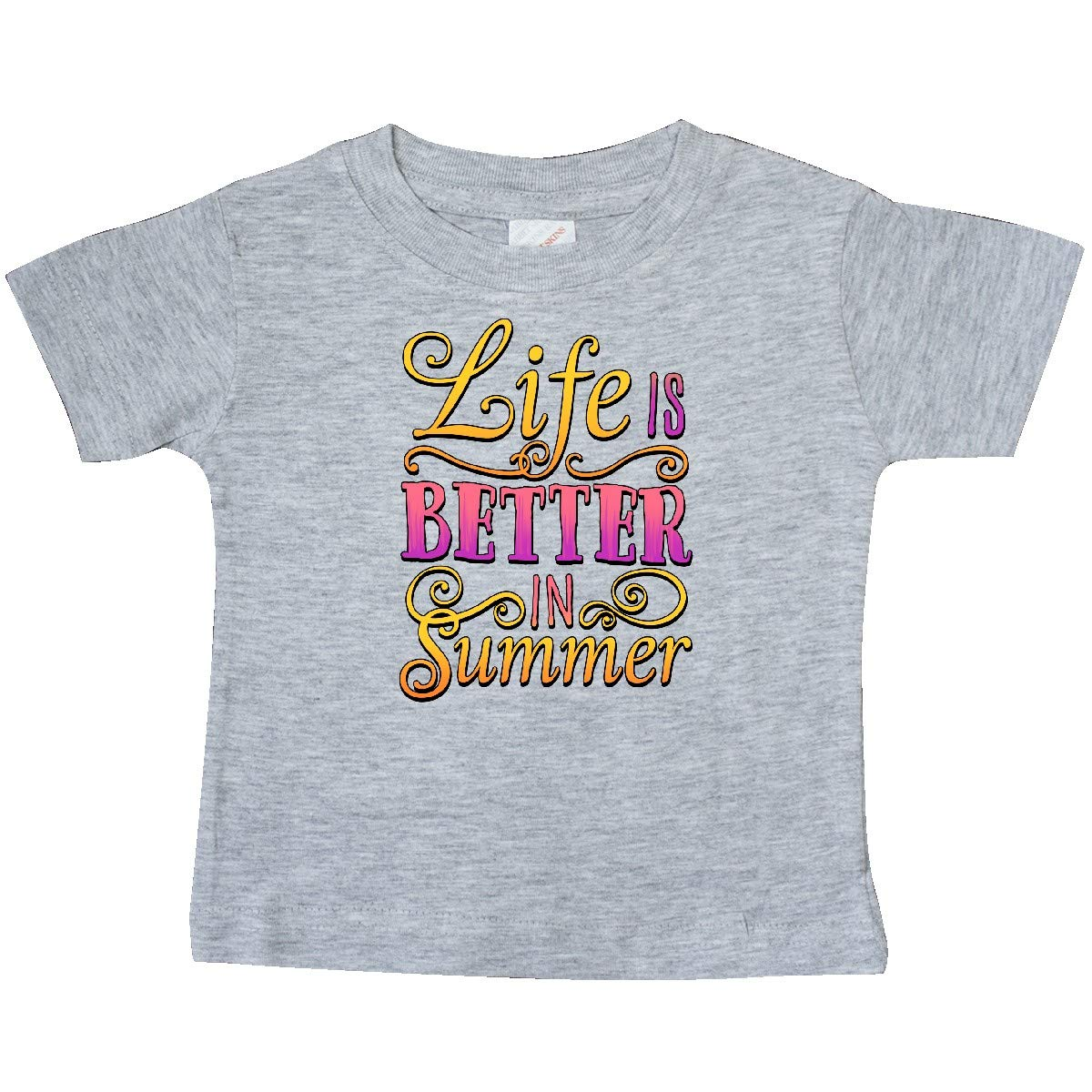 inktastic Life is Better in Summer Pink and Gold Baby T-Shirt Vacation