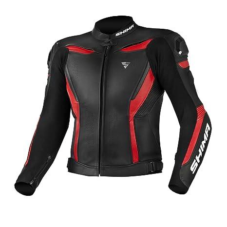 Shima Chase - Chaqueta de piel para moto, para hombre, con ventilación, reflectante