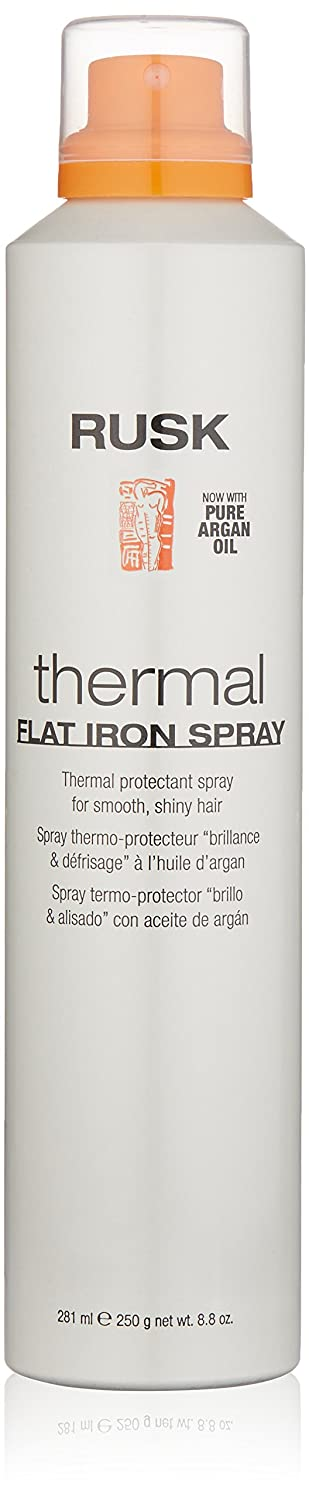 RUSK Designer Collection Thermal Flat Iron Spray with Argan Oil, 8.8 fl. oz