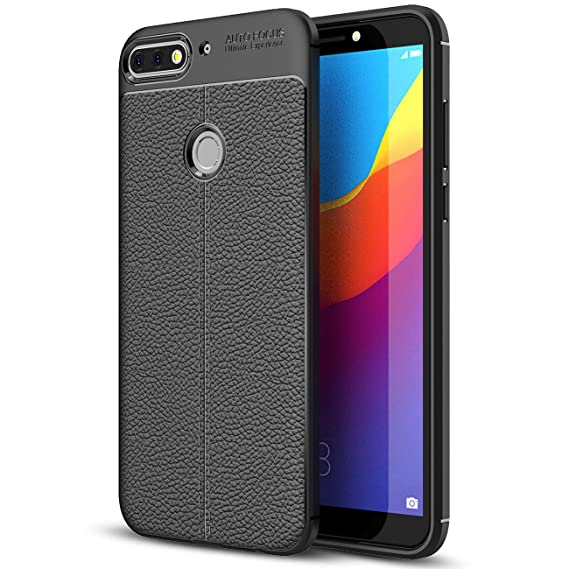 buy online af78a 311ab Amazon.com: Huawei Y7 Prime (2018) Case, Huawei Y7 Prime (2018) Faux ...