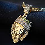 Necklaces For Women,Mens Full Iced Out Rhinestone