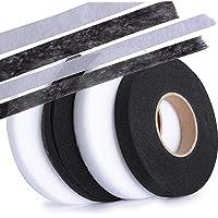 (10 mm + 15 mm) 280 yards 4 rollen zoomband strijkband Hem Tape plakband opstrijkbaar zwart wit voor jeans broeken…