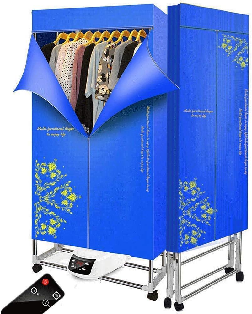Bostar Secadora de Ropa eléctrica 1500W rápido Interruptor de Control Remoto portátil Plegable,Gran Capacidad 15 Kg,Aire Caliente de Secado Armario con 240 min Temporizador 3 Niveles (azul): Amazon.es: Grandes electrodomésticos