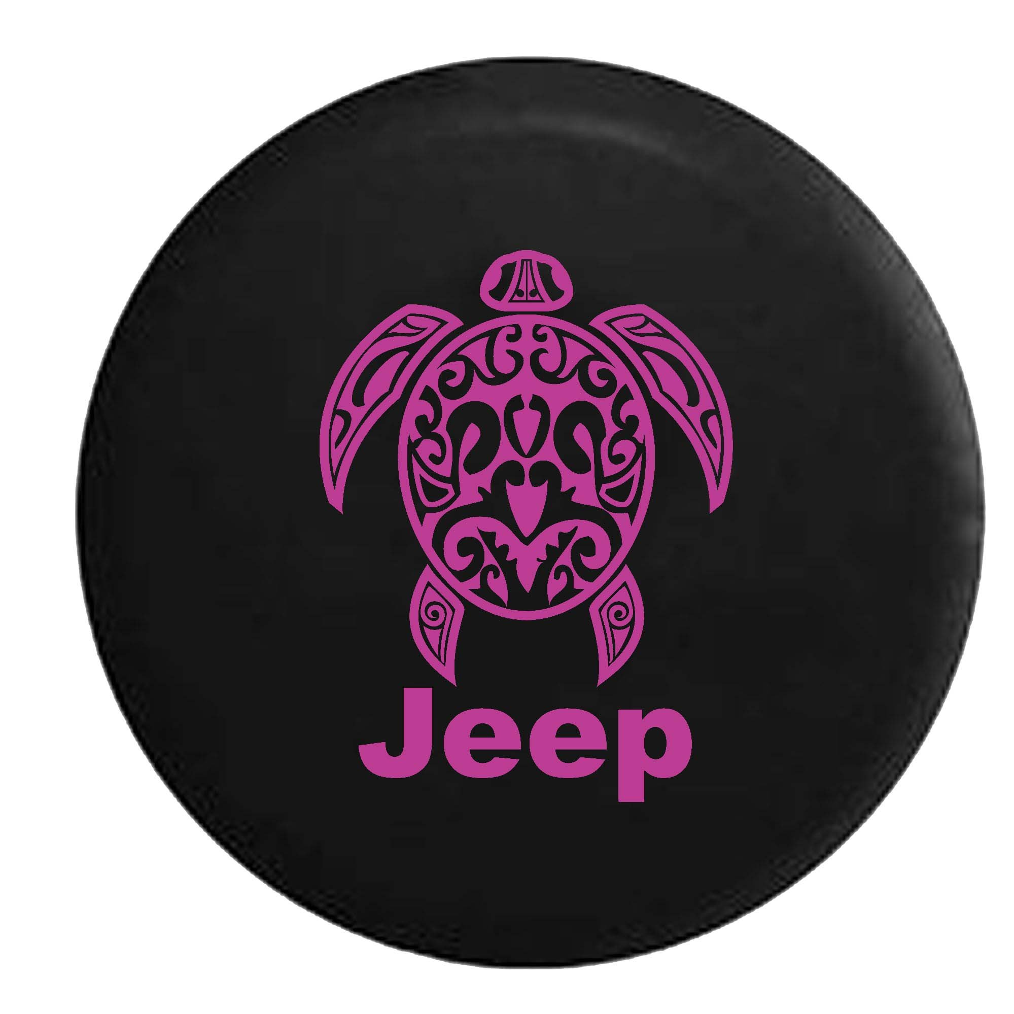 PinkInk - Jeep Sea Turtle Diving Beach Marine Life Spare Tire Cover Vinyl Black 33 in