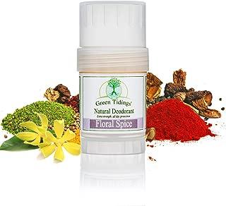 product image for Green Tidings Natural Floral Spice Deodorant | Ylang Ylang, Petitgrain, Geranium & Mimosa Essential Oils | Aluminum Free Deodorant for Men and Women, Vegan Underarm Antiperspirant 1.0 Oz 1 Pack