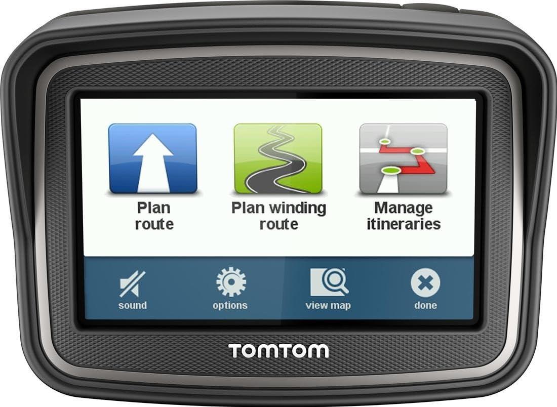 TomTom RIDER - GPS para motos de 4.3 pulgadas, color negro: Amazon ...