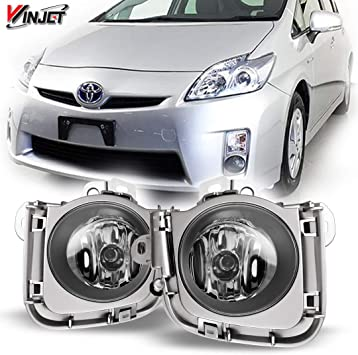 Left /& Right Side Fog Light Assembly For 2016-2017 Toyota Prius Touring