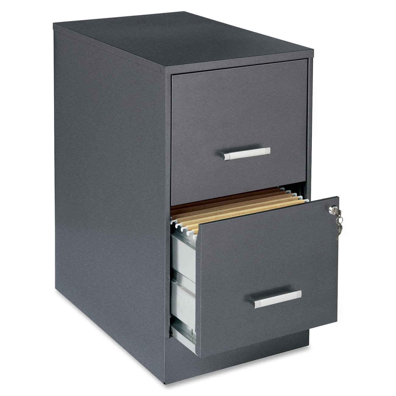 Amazon.com: Lorell 16870 2-Drawer Mobile File Cabinet, 22-Inch ...